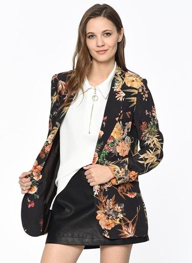 Çiçek Desenli Blazer Ceket-Setre